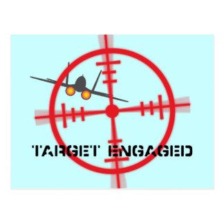 Target Engaged Flight Simulator Pilot Display Postcard