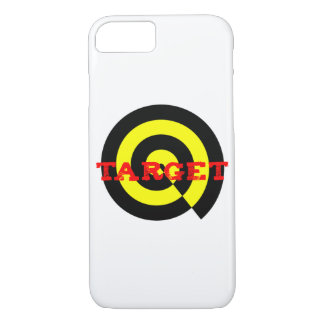Target in red black yellow on phone case