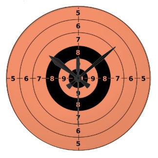 target shooting wall clocks zazzle