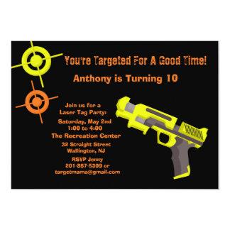 Target Laser Tag Birthday Party Invitation