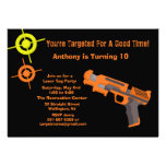 Target Laser Tag Birthday Party Invitation