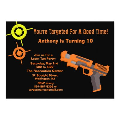 target paintball birthday party invitations  zazzle, Party invitations
