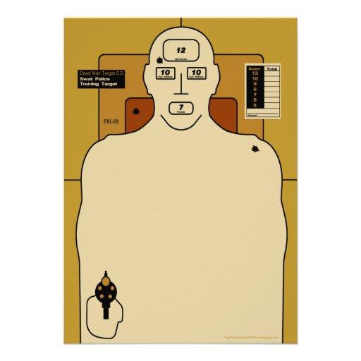 Target Paper, Gun Man Shooting Target Personalized Invitation