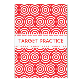 Target Practice Archery Club Event Bright Red Card