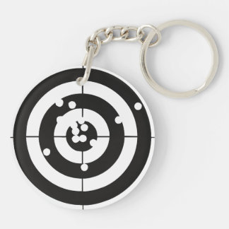 Target Practice Double-Sided Round Acrylic Keychain