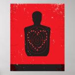 Target Practice Heart Poster