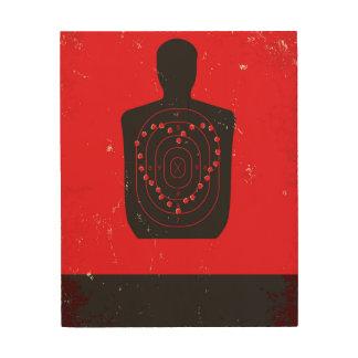 Target Practice Heart Wood Print