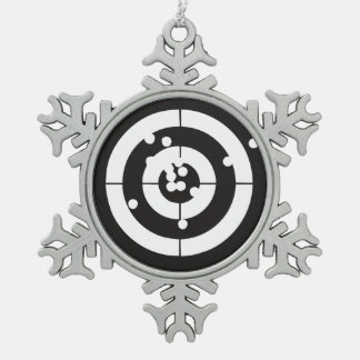 Target Practice Snowflake Pewter Christmas Ornament