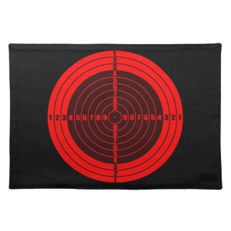 target red cloth placemat