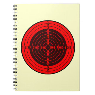 target red spiral note book