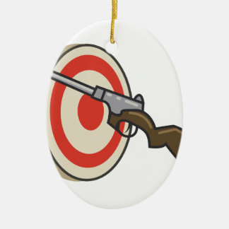 Target Shoot Ceramic Ornament