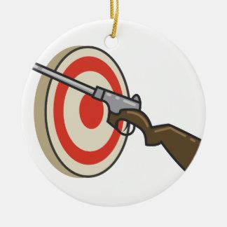Target Shoot Ceramic Ornament