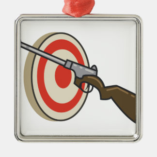 Target Shoot Metal Ornament