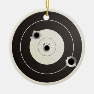 Target shooting Double-Sided ceramic round christmas ornament