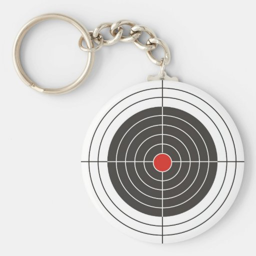 Target shooting for gun, rifle or firearm shooter basic round button keychain