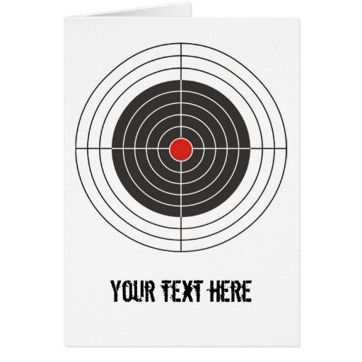 Target shooting for gun, rifle or firearm shooter cards