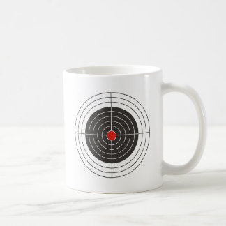 Target shooting for gun, rifle or firearm shooter coffee mug