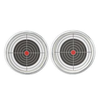 Target shooting for gun, rifle or firearm shooter cufflinks