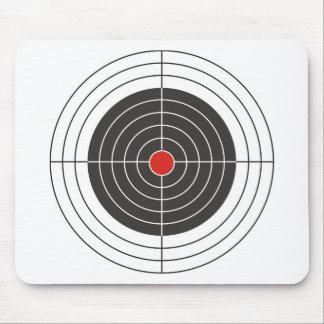 Target shooting for gun, rifle or firearm shooter mouse pad