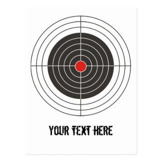 Target shooting for gun, rifle or firearm shooter postcard