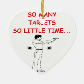 target shootng ceramic ornament