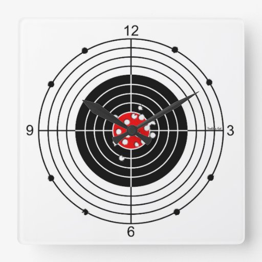 Target Wall Decor Clock : Target square wall clock zazzle