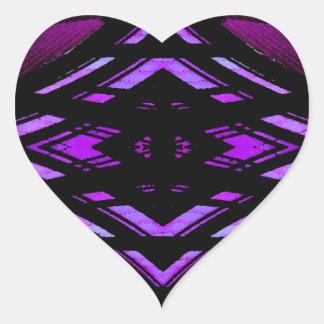 Target Style Magenta Urban Futurism Design Heart Sticker