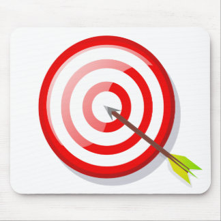 Target with arrow mouse pad