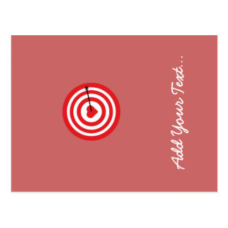 Target with Heart Postcard