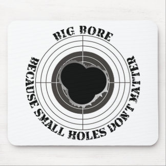 Target with large bullet holes - big bore mousepad