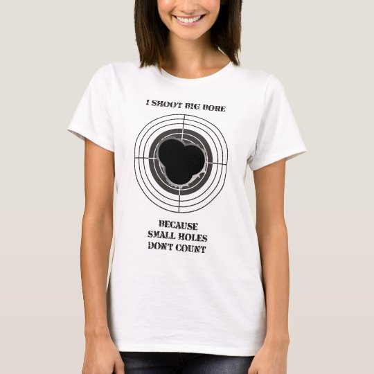 Target with large bullet holes - big bore T-Shirt