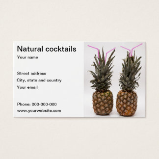 Targeta for cocteleria business card