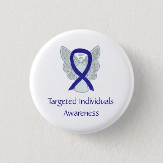 Targeted Individuals Angel Awareness Ribbon Pins