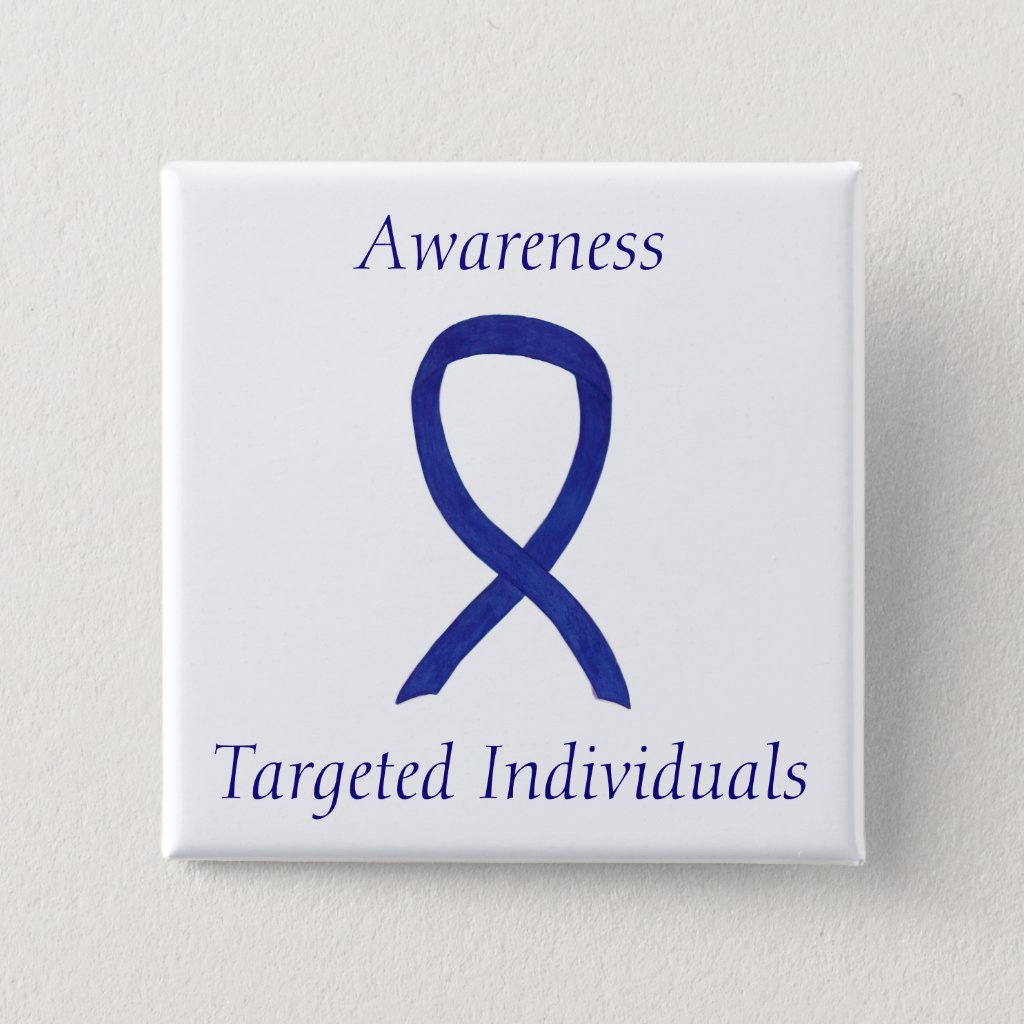 Targeted Individuals Awareness Ribbon Custom Pins