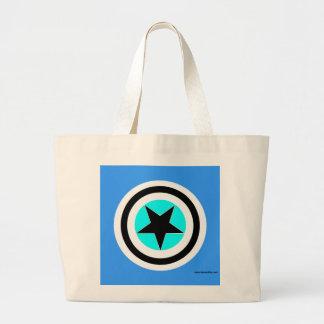 Targeted Pentagram Large Tote Bag