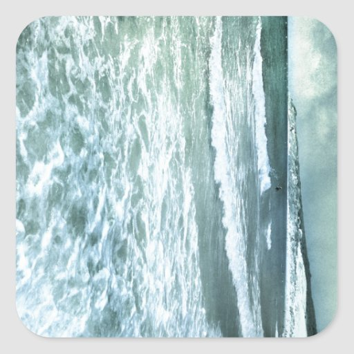 Tarifa beach pegatina cuadrada