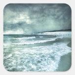 Tarifa beach pegatinas cuadradas