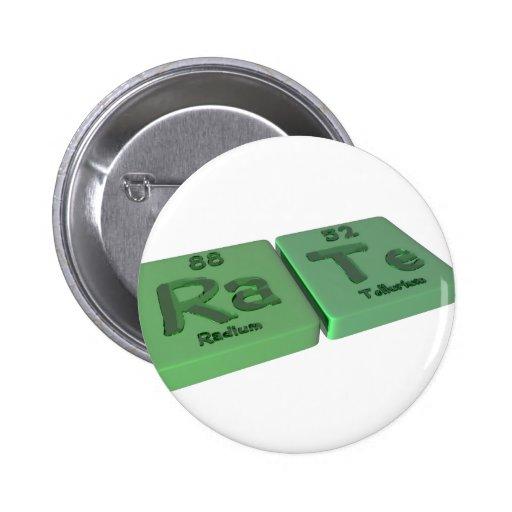 Tarifa como el radio del Ra y telurio de Te Pin Redondo 5 Cm