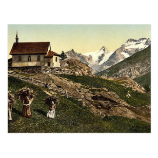 Tarifa de Saas iglesia y Rimpfischhorn Valais m Postal
