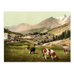 Tarifa de Saas, un paisaje, Valais, montañas de, S Tarjetas Postales