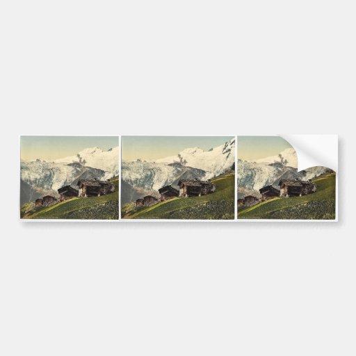Tarifa de Saas, visión alpina, Valais, montañas de Pegatina Para Auto