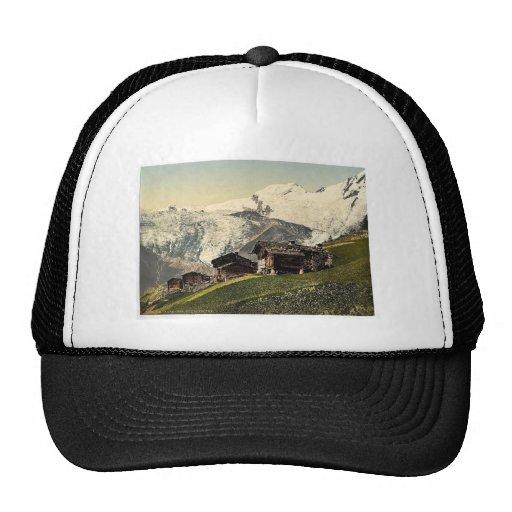 Tarifa de Saas, visión alpina, Valais, montañas de Gorras De Camionero