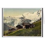 Tarifa de Saas, visión alpina, Valais, montañas de Tarjetón
