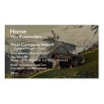 Tarifa de Saas, visión alpina, Valais, montañas de Tarjetas Personales
