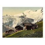 Tarifa de Saas, visión alpina, Valais, montañas de Tarjeta Postal