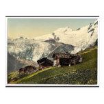Tarifa de Saas, visión alpina, Valais, montañas de Tarjetas Postales