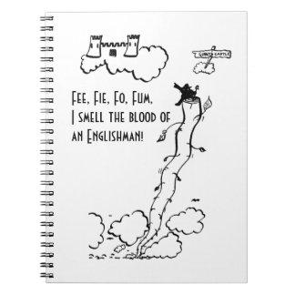 ¡Tarifa, Fie, FO, Fum! Libros De Apuntes Con Espiral