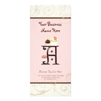 Tarifa oficial del negocio - ponga letras a un pos tarjeta publicitaria personalizada