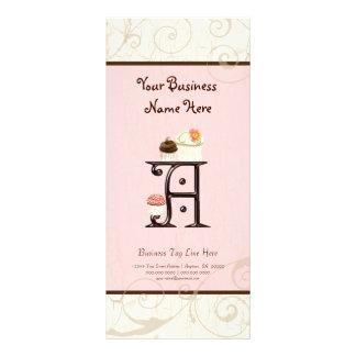 Tarifa oficial del negocio - ponga letras a un tarjetas publicitarias