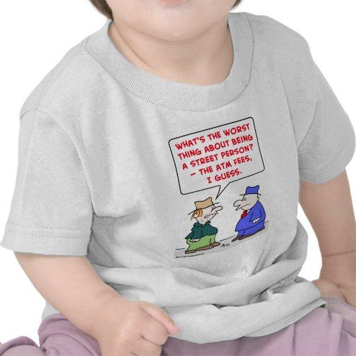 tarifas de la atmósfera de la persona de calle camiseta